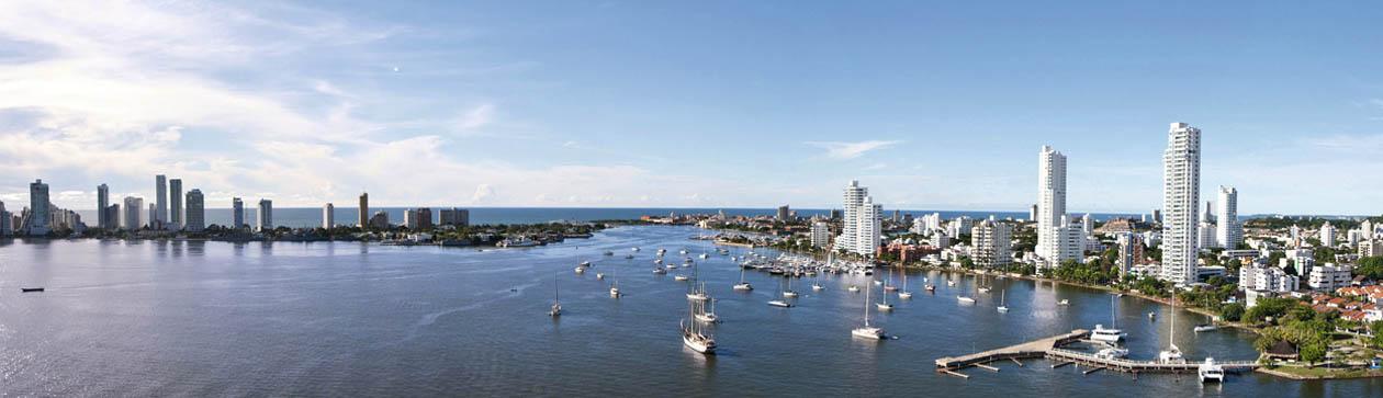 Vista panóramica  Bahía de Cartagena