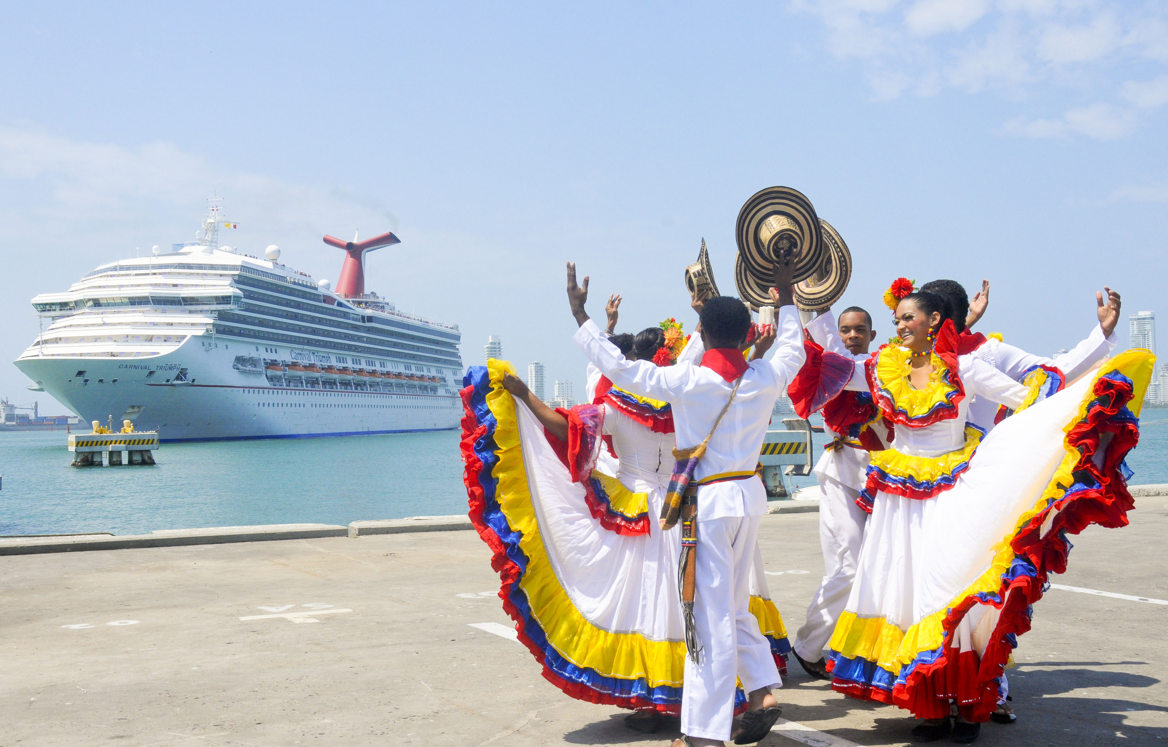 97 per cent of passengers who enter the country by sea - around 500,000 each season - do so through the Cartagena Terminal.