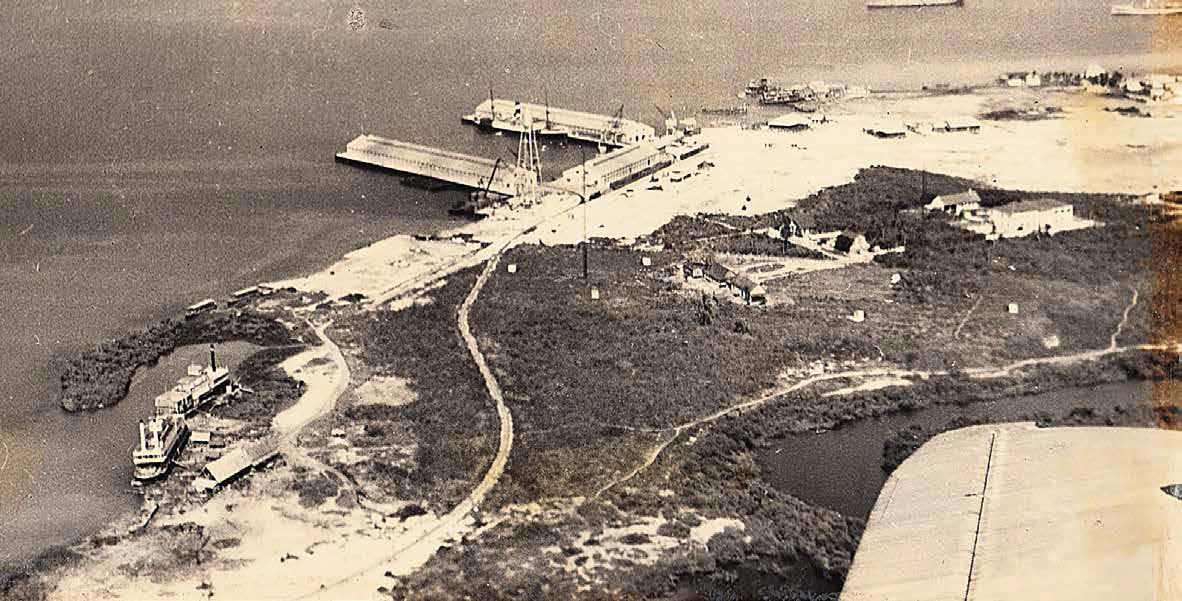 Muelle de Manha inaugurados en 1934. FOTO: Archivo Particular