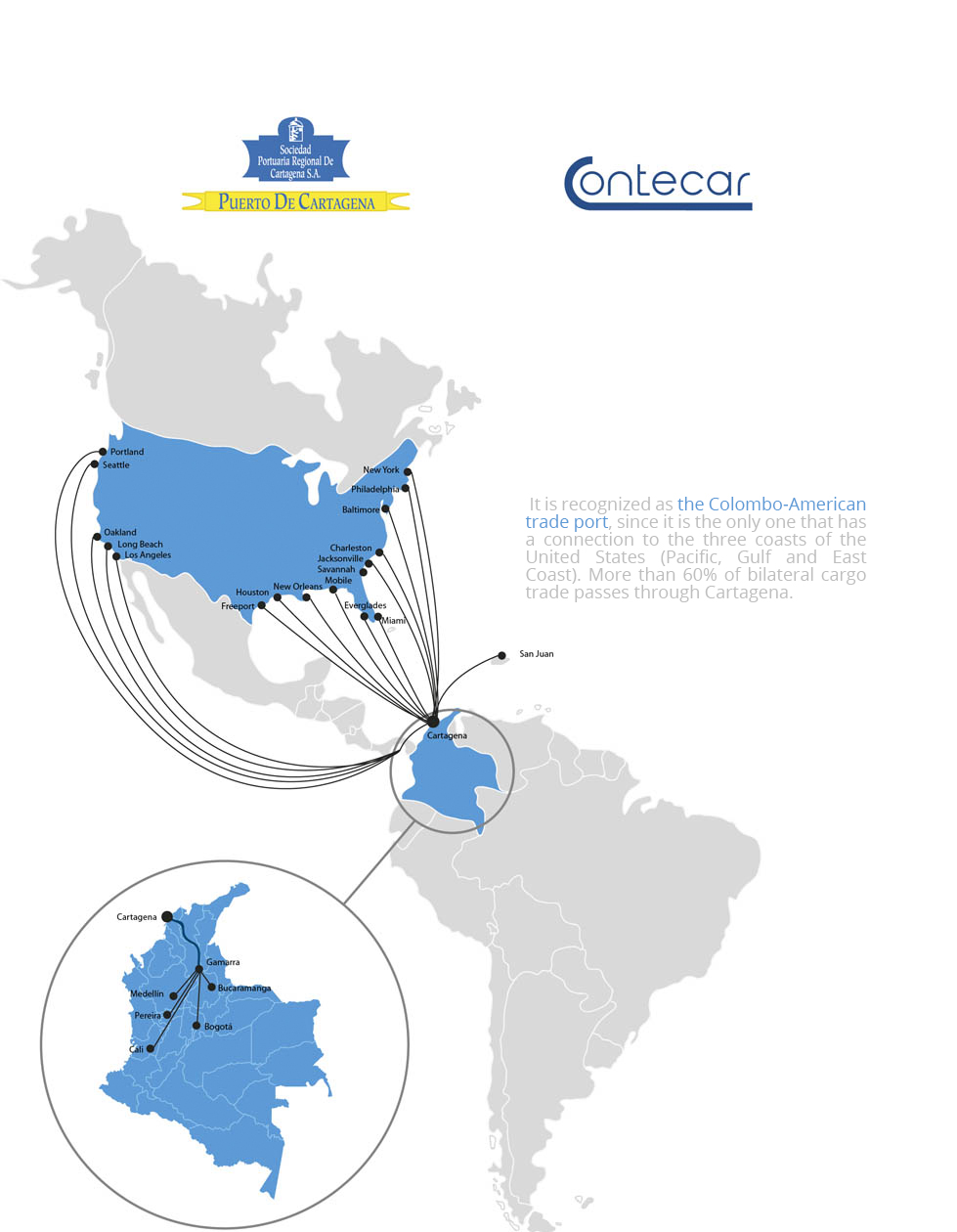 Connectivity map Contecar from North America