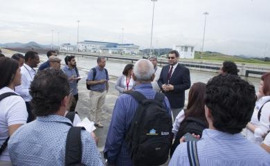 16 periodistas de medios nacionales y locales (Cartagena) fueron invitados por el Grupo Puerto de Cartagena al Canal de Panamá