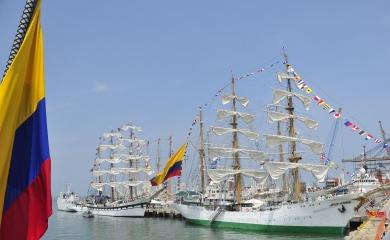 """Del 21 al 26 de julio de 2018 se realiza en Cartagena el """"Velas Latinoamérica 2018"""" un evento en el que se recibirán los buques insignia de varios países en la Terminal de Sociedad Portuaria Regional de Cartagena."""