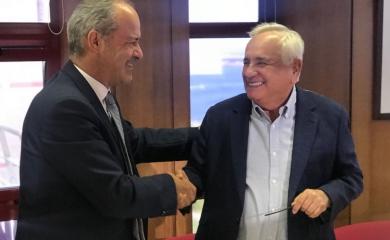 Luis Cacho CEO de la Administración de los Puertos de Sines y Algarve y Alfonso Salas Trujillo gerente Grupo Puerto de Cartagena.