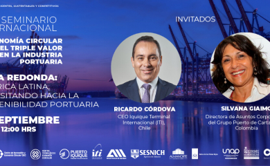 Participación en mesa redonda sobre sostenibilidad portuaria