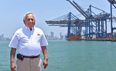 Alfonso Salas Trujillo,  gerente de la Sociedad Portuaria de Cartagena