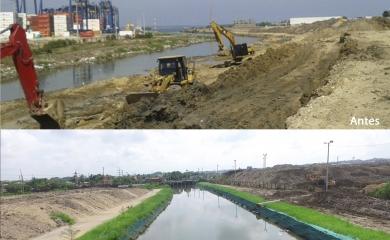 Además de lograr la recuperación ambiental y paisajística del Canal Ceballos, con su proyecto para mejorar la sedimentación, flujo de agua y condiciones de navegabilidad, Contecar beneficiará varias comunidades pues la obra está alineada con el plan 4C de adaptación al cambio climático que viene adelantando la ciudad de Cartagena.