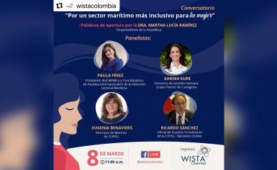 Conversatorio: Por un sector marítimo más inclusivo para la mujer - Participación de Karina Kure