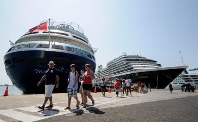 Gasto de los turistas de cruceros en tránsito