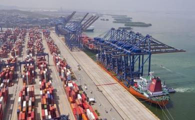 Como muestra del compromiso de la Organización Puerto de Cartagena con la competitividad del país arribaron este viernes a Contecar seis nuevas grúas pórticos provenientes de Shanghái, las cuales son indispensables para las operaciones portuarias en el actual contexto del sector marítimo, que se mueve con buques cada vez más grandes.