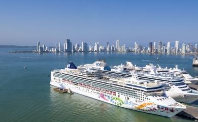 Cuatro cruceros simultáneos en la Terminal de Cruceros de Cartagena
