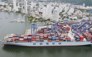 Llegó a la Sociedad Portuaria Regional de Cartagena, el barco con mayor eslora que ha entrado a la bahía de Cartagena en toda su historia.