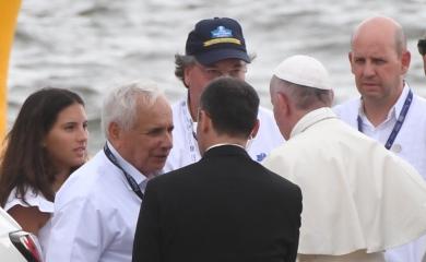 Montaje terminal de Contecar para la misa del Papa Francisco en Cartagena