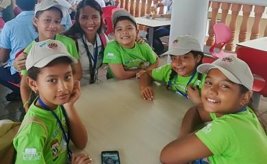 11 niños del programa Ecuguardianes fueron seleccionados para participaren el Primer Congreso Kid-de Investigación a través del PRAE, organizado por el Establecimiento Publico Ambiental EPA-Cartagena.