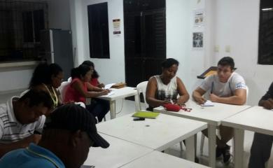 Miembros de la Junta de Acción Comunal del barrio Ceballos y líderes naturales en el curso Planeación estratégica de desarrollo