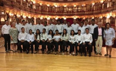 Julia Salvi reconoció y agradeció el respaldo que el Puerto de Cartagena, a través de su Fundación, le ha dado al Festival de Música.