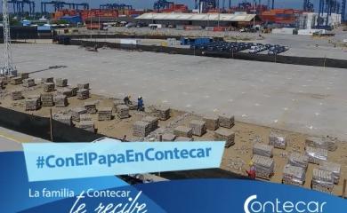 Obras en terminal Contecar para visita del Papa Francisco
