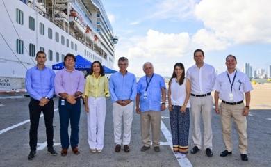 El viceministro conoció al detalle cómo se desarrolla la operación de cruceros