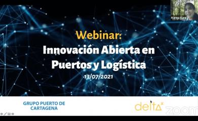 De la mano de Karina Kure, Líder de Innovación de Delta X, estuvimos presente en el webinar sobre Innovación Abierta en Puertos y Logística en Iberoamérica organizado por el Puerto de Bahiablanca