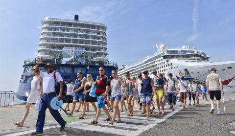 11.097 visitantes trajo la jornada de hoy con la llegada de cuatro cruceros a la ciudad de Cartagena.