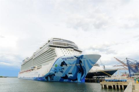 El Norwegian Bliss está en el top 10 de los cruceros más grandes del mundo. Con sus 333.5 metros de eslora (largo) y 41.5 m de manga (ancho) es el crucero más grande que ha llegado a Cartagena.