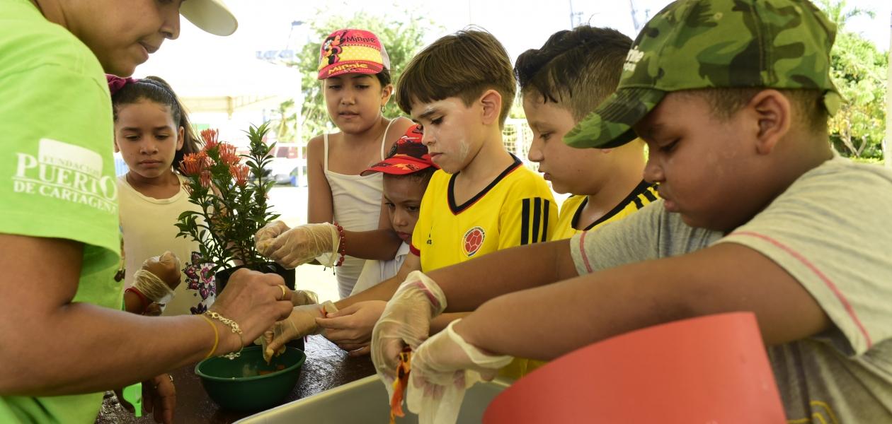 605 niños de la Fundación Puerto de Cartagena hacen parte del programa Ecoguardianes