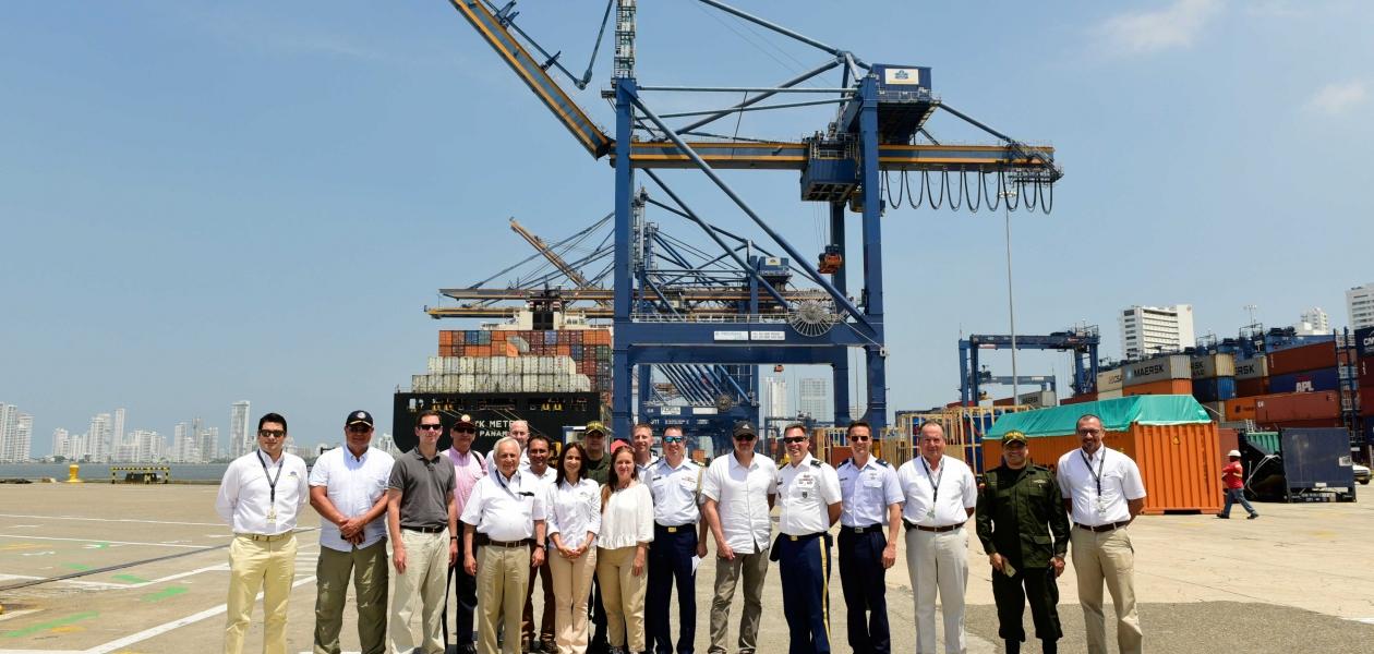 La Organización Puerto de Cartagena recibió la visita de representantes de la oficina Internacional de Asuntos Antinarcóticos y Procuración de Justicia de EEUU