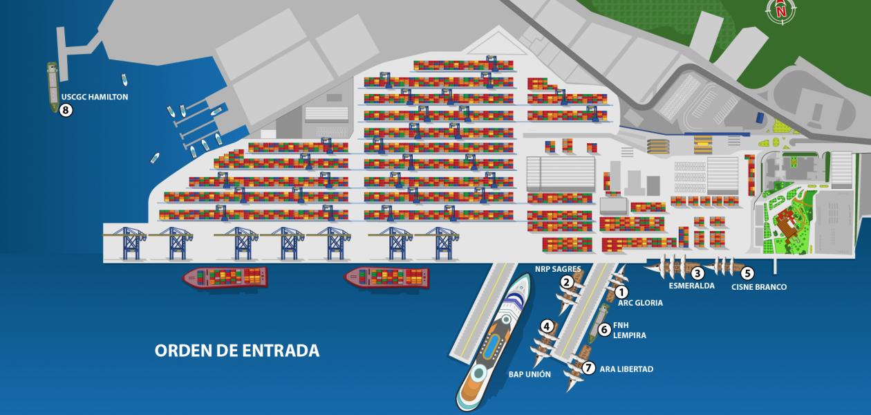 Del 21 al 26 de julio los buques estarán en instalaciones de Sociedad Portuaria Regional de Cartagena.