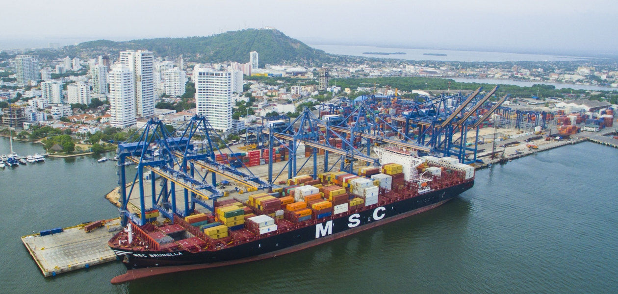logistica portuaria - llegaron los neopanamax a Cartagena