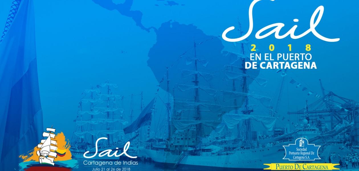 """""""Velas Latinoamérica 2018"""" el evento que reúne a buques emblemáticos de diferentes países llega a Cartageba del 21 al 26 de julio de 2018"""