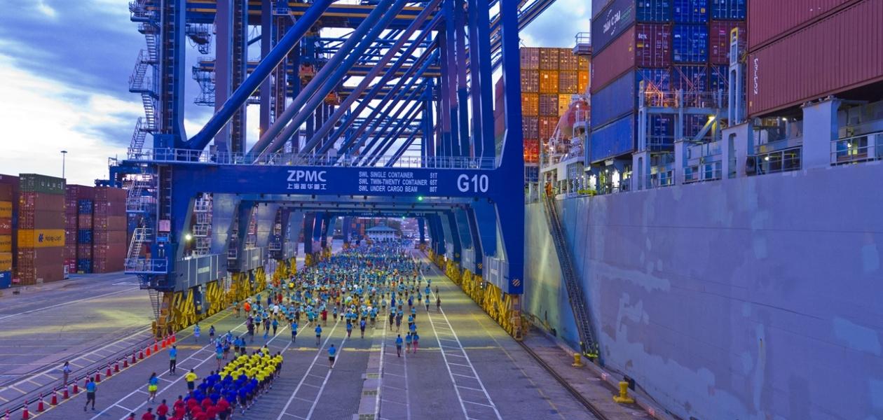Media Maratón del Mar desde el Puerto de Cartagena