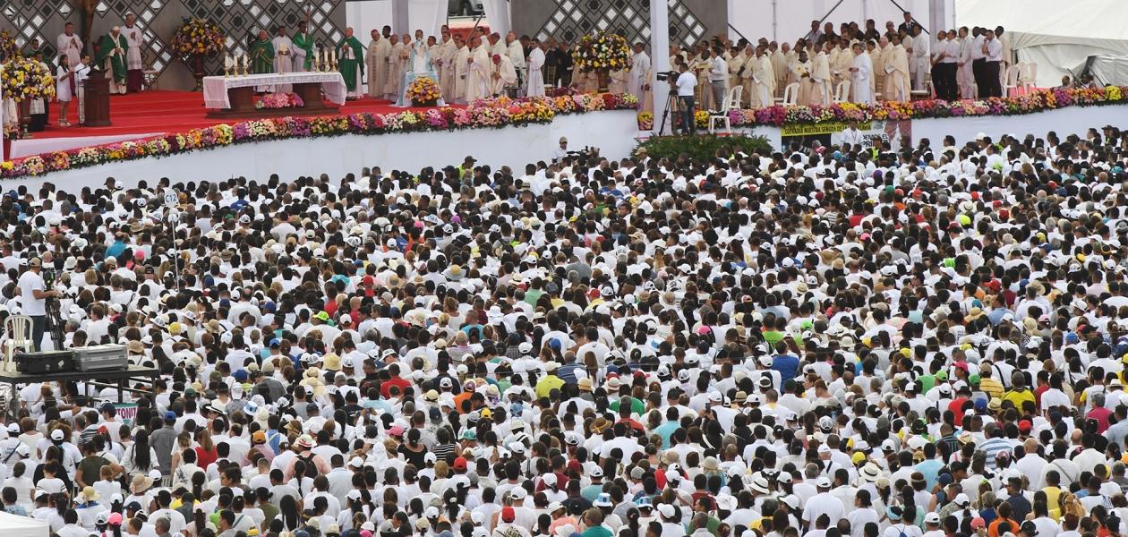 200 millones de televidentes en todo el mundo tenían los ojos puestos en la terminal de Contecar el pasado 10 de septiembre cuando el papa Francisco cerraba su visita en territorio colombiano