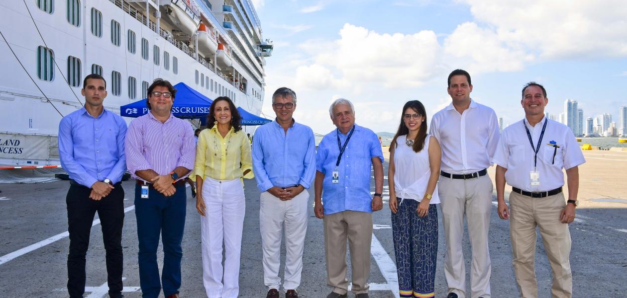 Visita del Viceministro de Turismo a la Terminal de Cruceros Cartagena de Indias