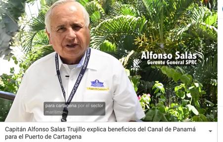 Alfonso Salas Trujillo explica beneficios del Canal de Panamá para el Puerto de Cartagena